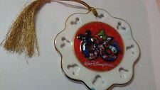 "2006 Disney World 4"" Gold Tassel Ornament Mickey Mouse & Friends"