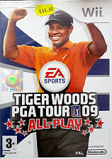 TIGER WOODS PGA TOUR 09: ALL-PLAY Nintendo Wii Game 2008 -PAL-