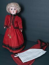 Antique French Bisque Doll SFBJ Paris 60 in Original Outfit 18""