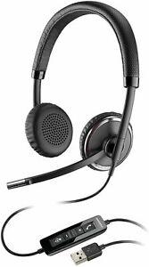 New Plantronics Blackwire C520-M Black Headset - P/N 88861 (No Box)