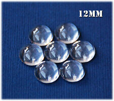 20 x 12mm Clear Round Glass Dome Magnifying Cabochons., scrapbooking, craft