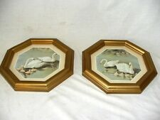 1987 Set of Two Home Interiors Homco Octagon Swan Pictures