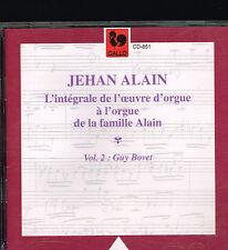 CD album: Jehan Alain: l' Oeuvre d' Orgue vol.2. Guy Bovet. Gallo . E