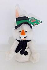 Bugs Bunny Snowman Bean Bag Plush 10in Looney Tunes Rabbit 1998 Stuffed Animal