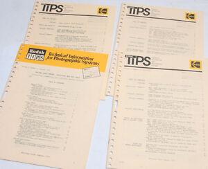 Kodak TIPS Tech Info Photo Systems Vol 3 No 1 2 3 4 - 1972 English - USED B113D