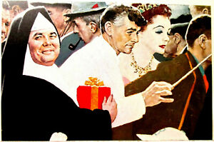 NORMAN ROCKWELL SM PART OF SATURDAY PEOPLE PRINT PAGE, JONATHAN WINTERS,ROCKWELL