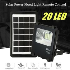 20 LED Solar Powered Flood Light Remote Control Outdoor Waterproof Security Lamp