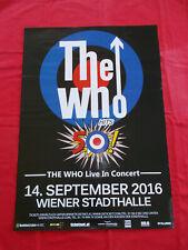 +++ 2016 THE WHO Concert Poster 14.9.2016 Vienna Austria 1st print I
