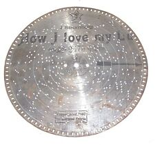 "9 1/2"" Stella Music Box Metal Disc #2475 , How I Love My Lu"