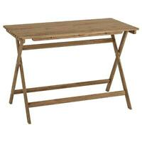 Table,Extérieur,Table Pliante,Terrasse,Balcon,Jardin (112x62cm),Depose,Braun