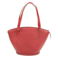 LOUIS VUITTON Epi Saint Jacques Shopping Shoulder Bag Red M52277 Auth th551