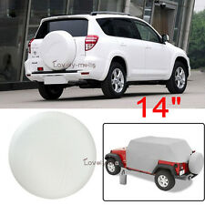 "14"" Universal White Car Spare Tire Cover 25"" 26"" 27"" Wheel Protection For GMC"