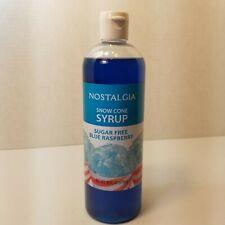 Nostalgia Snow Cone Syrup Sugar Free Blue Raspberry Lot 12 New Bottles Sealed