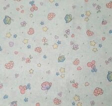 Precious Moments BTY Spectrix Blue Flower Heart Butterfly 100% Cotton Fabric