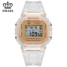 SMAEL Women Digital Watches for Students Boys Girls White Wristwatch Sport Watch
