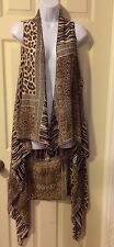 SAX       ANIMAL PRINT OPEN FRONT VEST