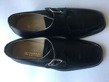 NED COMODA ITALIAN MADE LEATHER SHOES,BLACK,8 D.