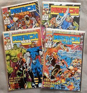 MYS-TECH WARS 1 TO 4 MARVEL COMICS 1993 LOT OF 4 AVENGERS X-MEN FANTASTIC FOUR