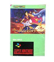 Notice jeu SNES Disney Aladdin Capcom Super Nintendo Livret Instruction Manuel