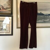 Chicos Womens Sz 0.5 Red Velvet Bootcut Pants A236