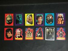 STAR WARS TRADING CARD LOT OF 12 STICKER CARDS
