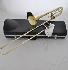 Top new Gold bass trombone Bb/F key cupronickel tuning with case