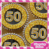 24 x GOLD DIAMOND 50TH BIRTHDAY EDIBLE CUPCAKE TOPPERS RICE PAPER KG050-24