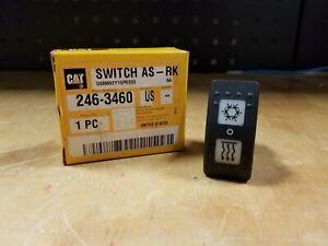 Genuine CATERPILLAR CAT Telehandler A/C Rocker Switch - 246-3460 - NEW