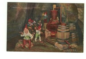 """TN Lookout Mountain Tennessee antique post card """"Moonshine Still RC Gardens"""""""