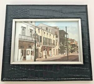 Photo Picture Frame Croc Embossed 4x6 Photo Royal Street New Orleans LA Sixtrees