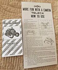 Toko Teleca Vintage Camera Brochure & Instructions Copy Japan Binocular Camera