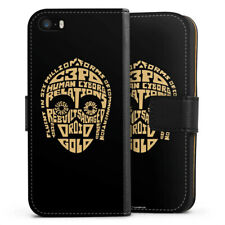 Apple iPhone 5 Tasche Hülle Flip Case - C3PO Typo