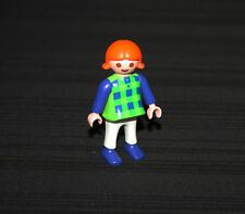 Playmobil country enfant fillette robe plaid 3115