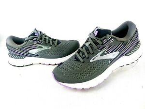Brooks Adrenaline GTS 19 Running Athletic Shoes Grey/Lavender Womens Size 9 B