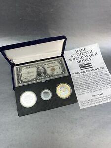 Pearl Harbor 24k Gold & .999 Silver Coins & Bill Set USS Arizona Memorial 1941