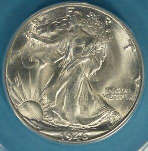 1946-D Walking Liberty Half Dollar ANACS MS65- Exceptional, Snow White Gem