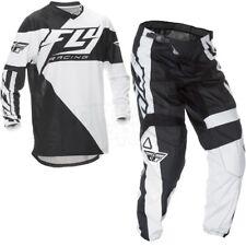 2016 FLY F16 Youth Motocross kit, Black / White, YXL Top, 28S pant.