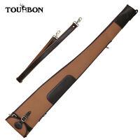 Tourbon Vintage Shotgun Slip Bag Thick Padded Gun Cover Case Canvas and Leather