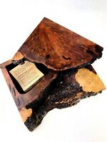 Vintage Redwood Burl Box Live Edge Jewelry Trinket Artisan Handmade Sly Wood 6""
