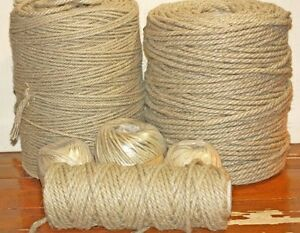 100% NATURAL HEMP ROPE -    Decking - Bondage - Gardening - Macrame  4- 6- 8MM