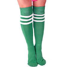 Thigh High Striped Over Knee Long Socks Stockings Soccer Football Stripe Tube