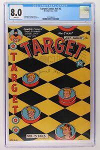 Target Comics #v5 #3 - Novelty Press 1944 CGC 8.0 - Single Highest Grade!