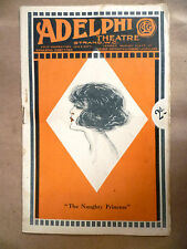 1920 THE NAUGHTY PRINCESS Opera Bouffe by J H Turner at ADELPHI THEATRE