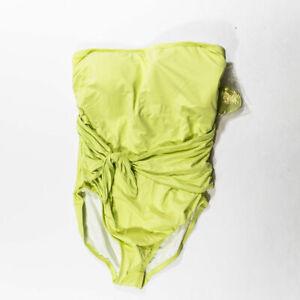 NEW Ann Taylor LOFT Beach Yellow One Piece Adjustable Strap Swim Bathing Suit 20