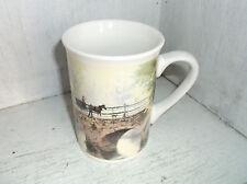 2004 Thomas Kinkade Hometown Bridge Cottage & Horse & Carriage Coffee Mug Cup