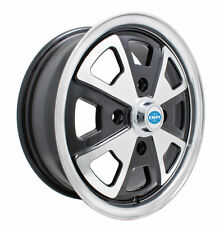 EMPI 914 ALLOY WHEEL, 5.5 X 15 BLACK POL/LIP  4X130 BUG GHIA TYPE 3, EACH