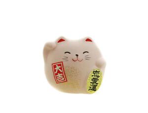 Manekineko Katze Japanischer Glücksbringer Herstellung IN Japan Maneki Neko Rosa