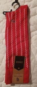 NWT Stance Mens Large (9-12) MLB Vintage Cardinals Red Dress Crew Socks St.Louis