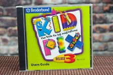Broderbund Kid Pix Deluxe 3X Software Art Graphics Cd New Sealed 2000