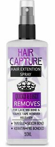 Tape Keratin Bond Remover Glue Hair Extensions Pre Bonded Remy Fast & Easy 50ml